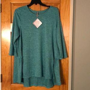 NWT Honeyme Curvy 3/4 Sweater Plus Top XXXL / 3X